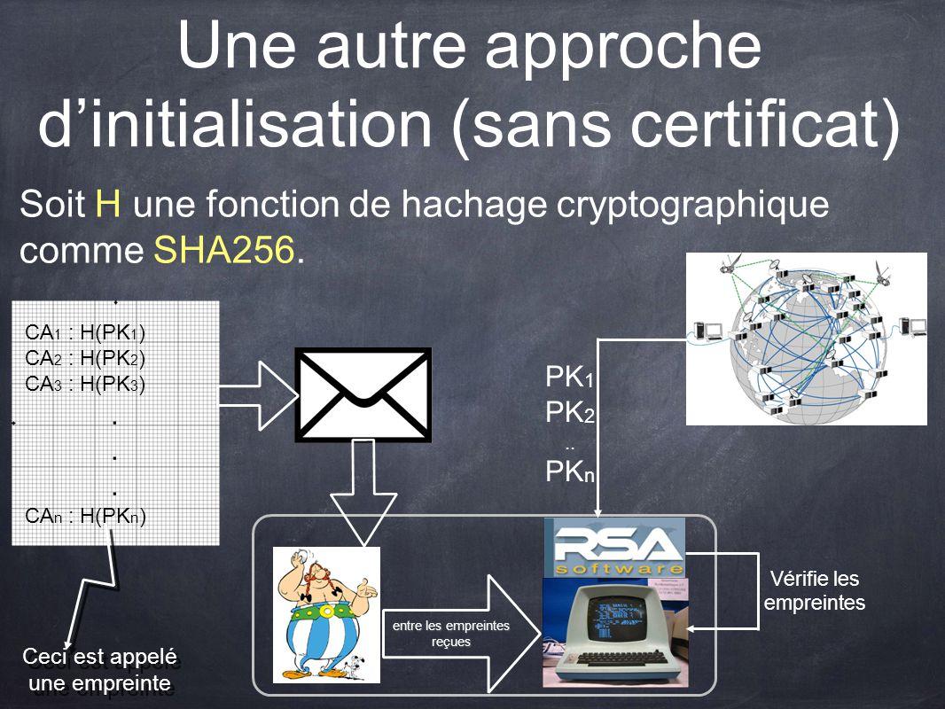 Une autre approche d'initialisation (sans certificat)