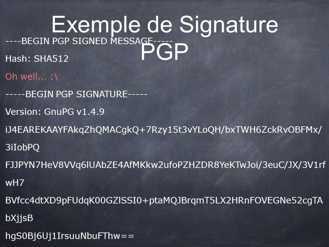 Exemple de Signature PGP