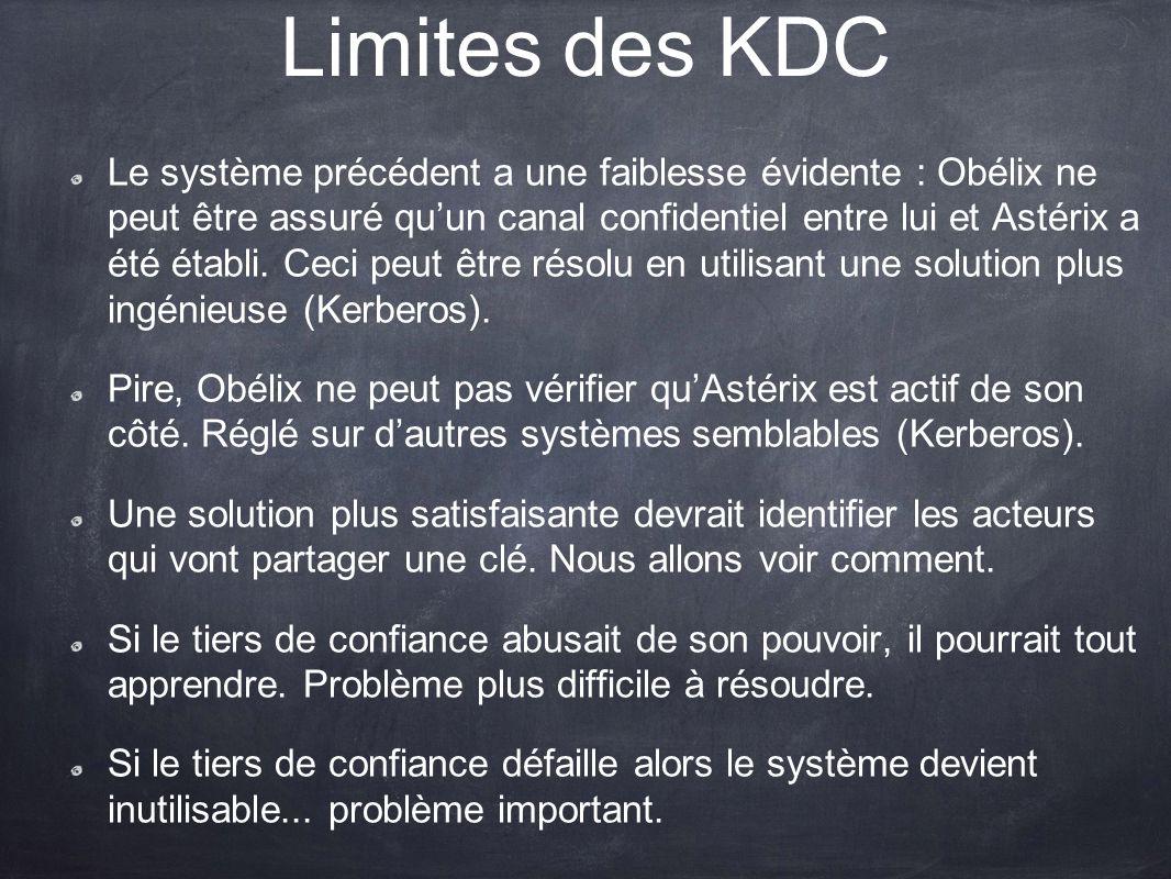 Limites des KDC