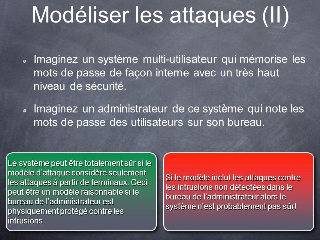 Modéliser les attaques (II)
