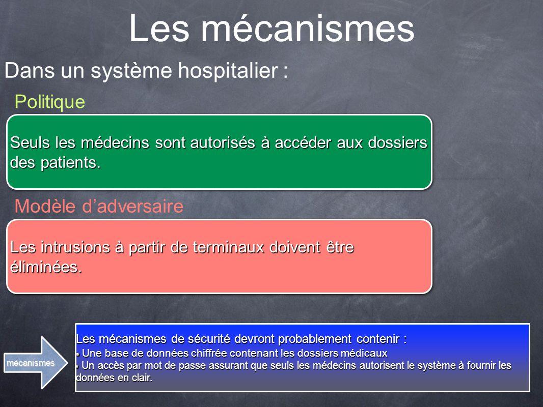 Les mécanismes Dans un système hospitalier : Politique