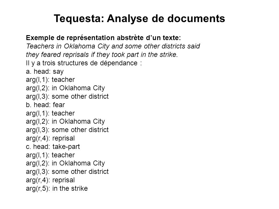 Tequesta: Analyse de documents