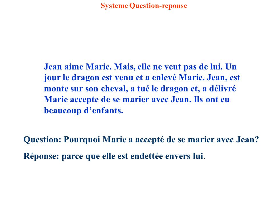 Systeme Question-reponse