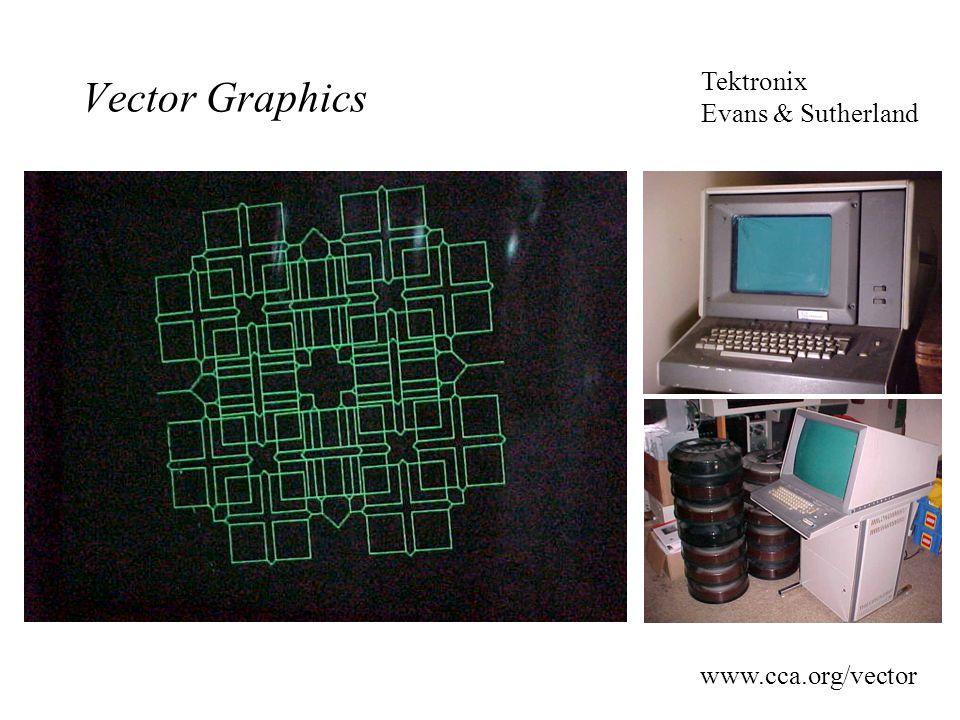 Vector Graphics Tektronix Evans & Sutherland www.cca.org/vector