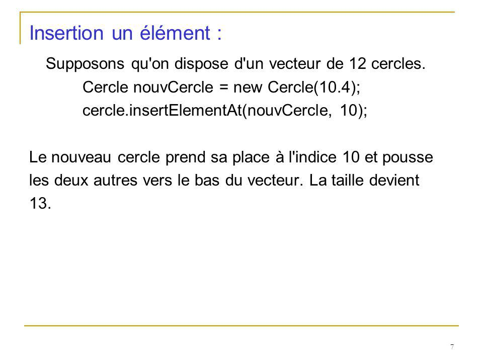 Supposons qu on dispose d un vecteur de 12 cercles.