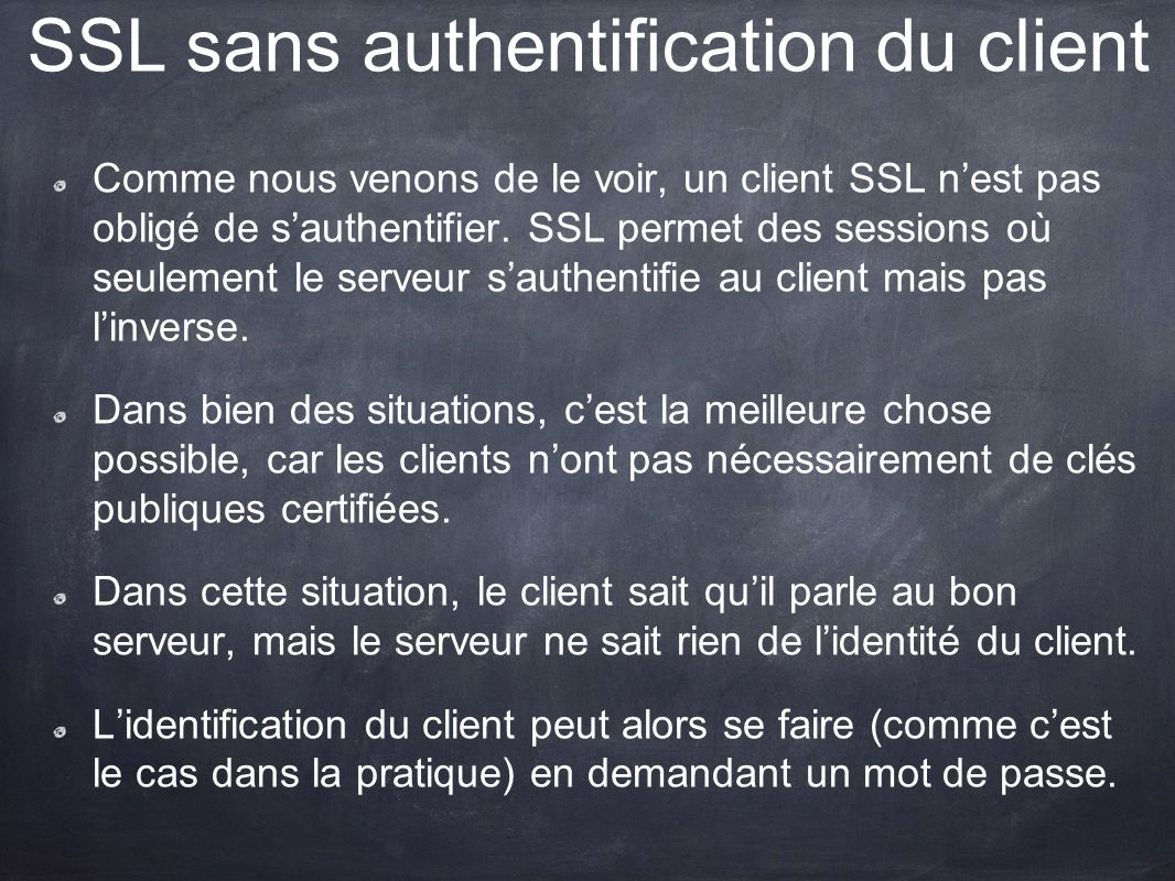 SSL sans authentification du client