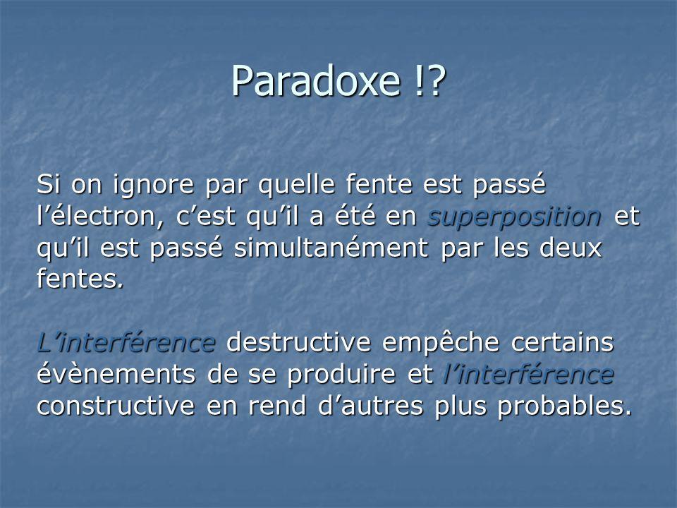 Paradoxe !