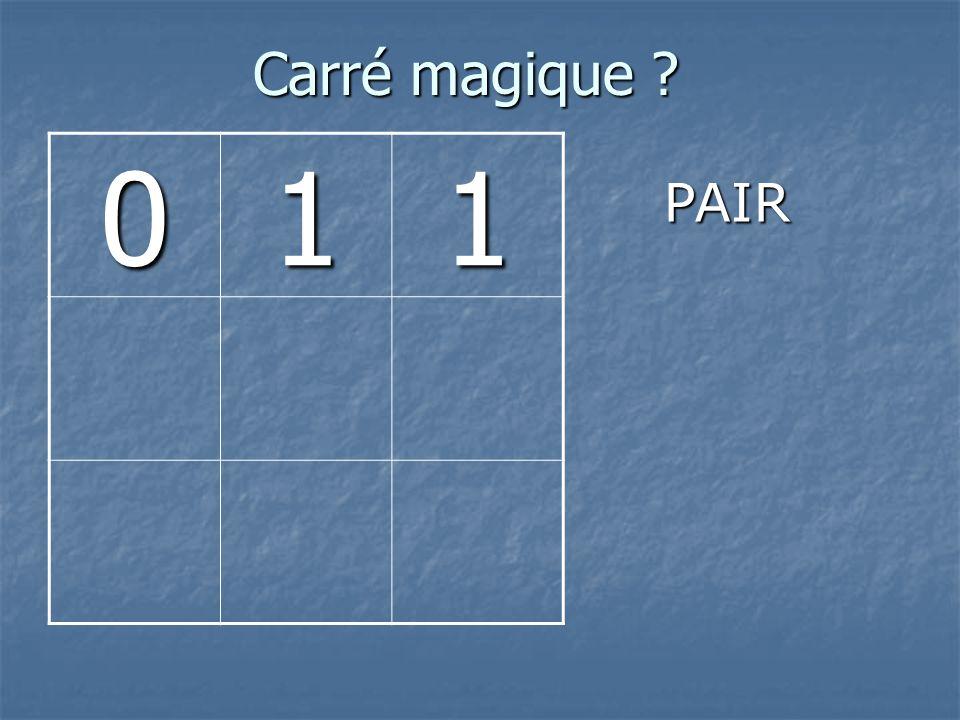 Carré magique 1 PAIR