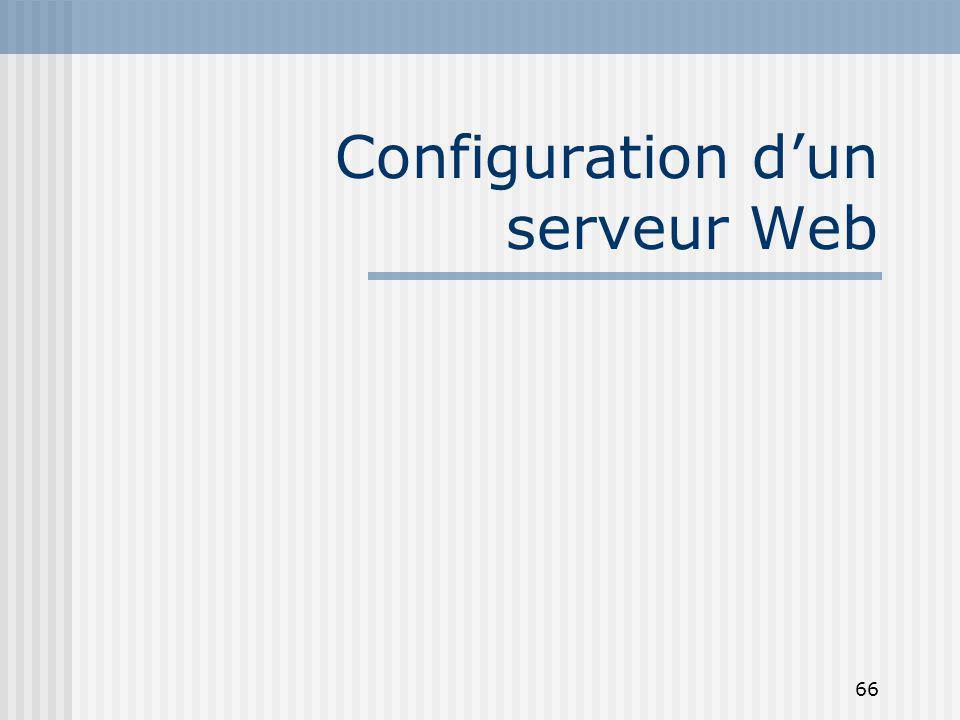Configuration d'un serveur Web