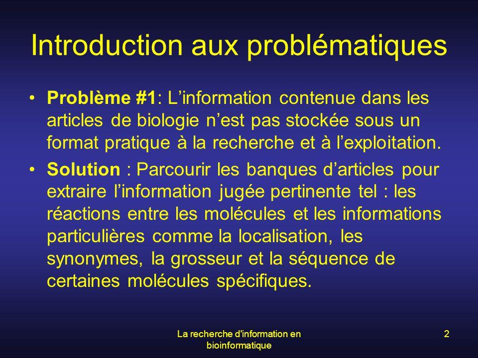 Introduction aux problématiques