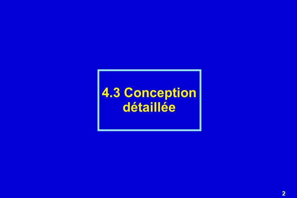 4.3 Conception détaillée