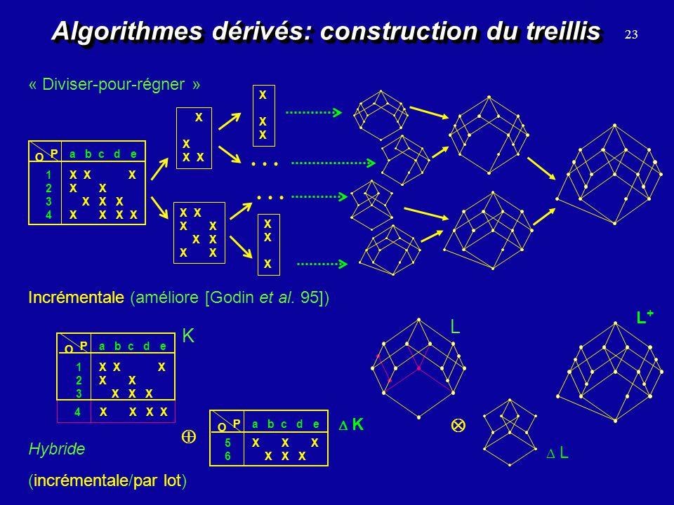Algorithmes dérivés: construction du treillis