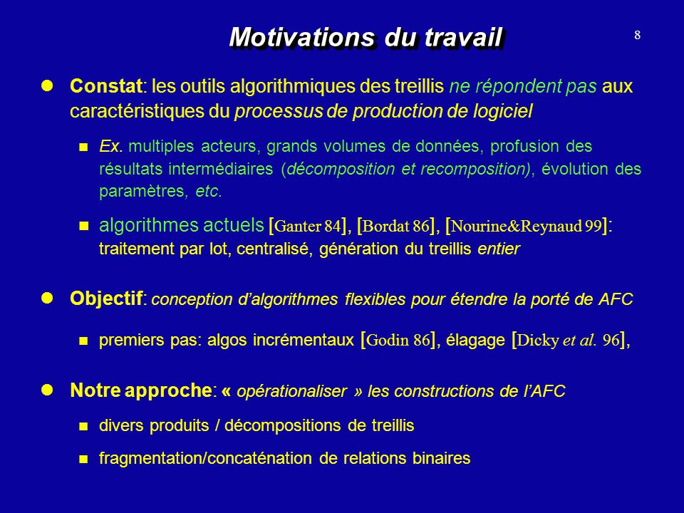 Motivations du travail