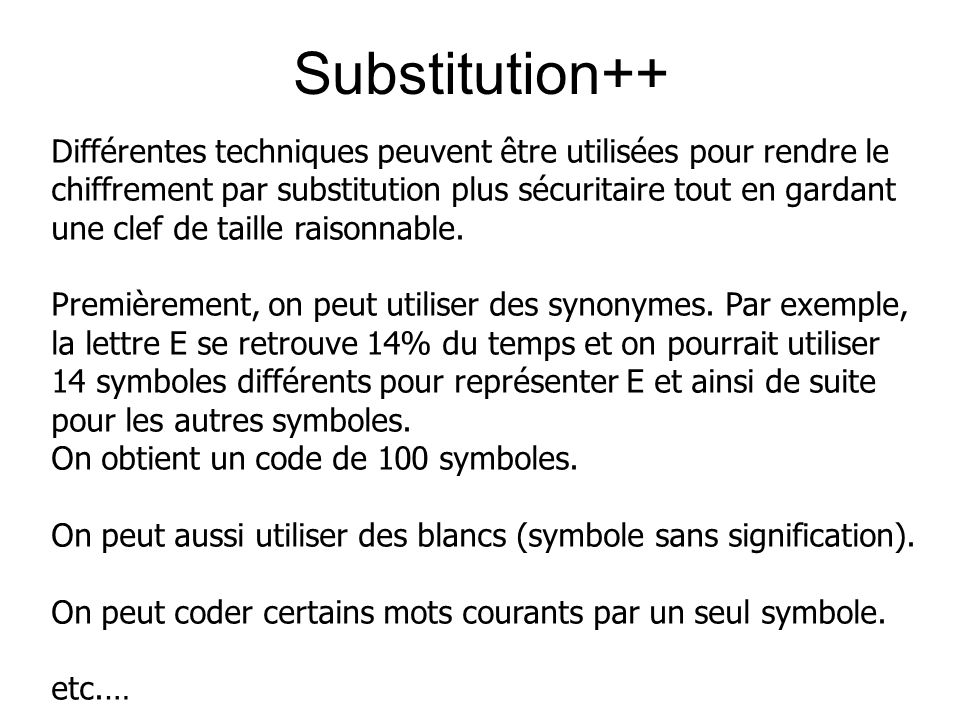 Substitution++