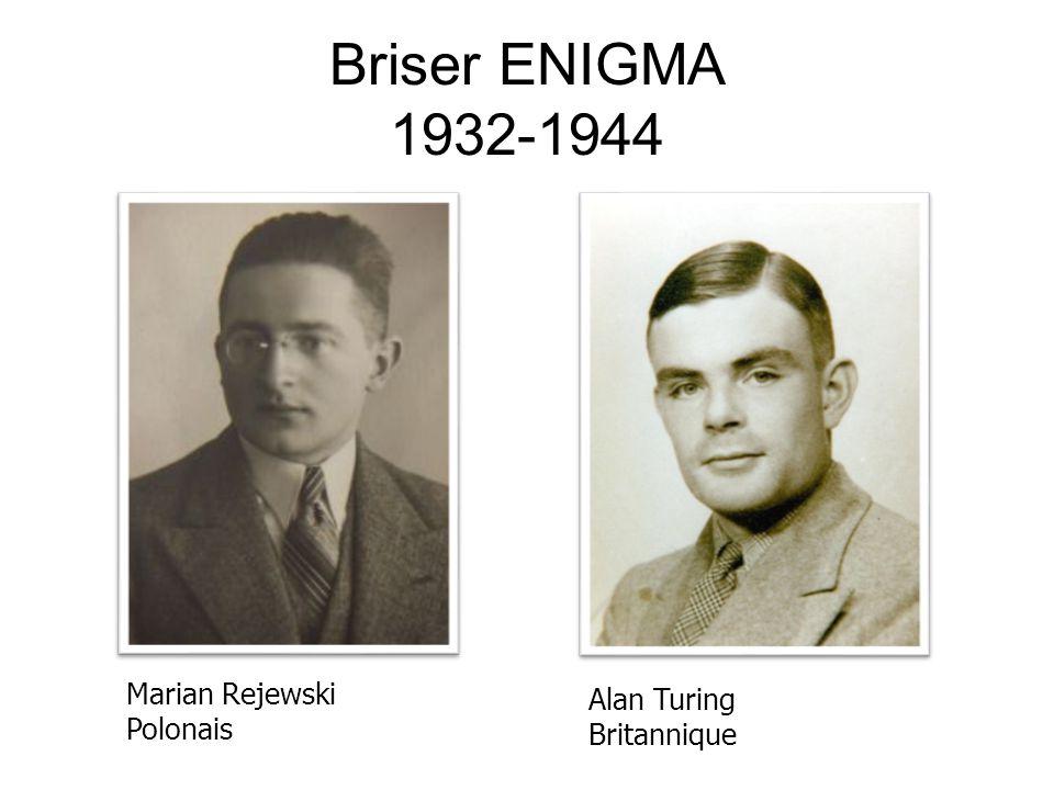 Briser ENIGMA 1932-1944 Marian Rejewski Alan Turing Polonais
