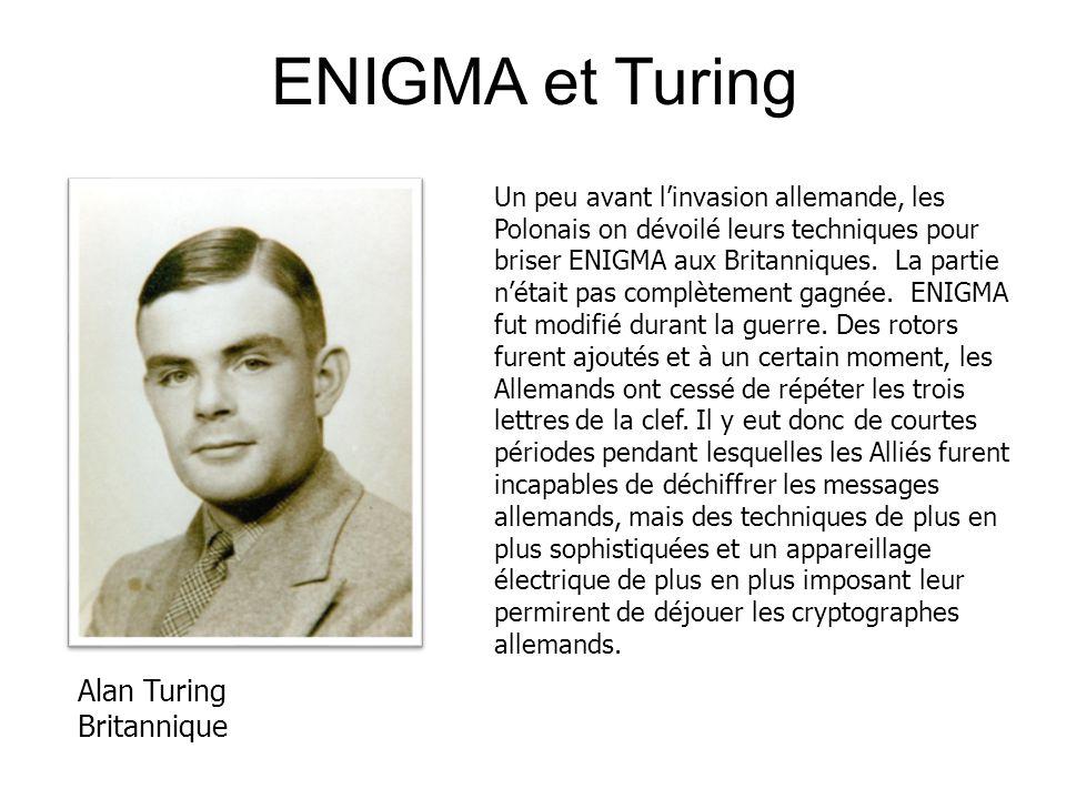 ENIGMA et Turing Alan Turing Britannique