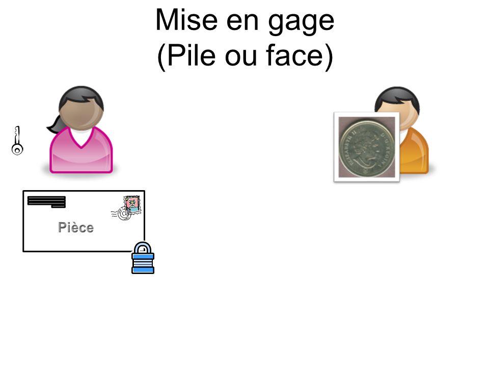 Mise en gage (Pile ou face) Pièce