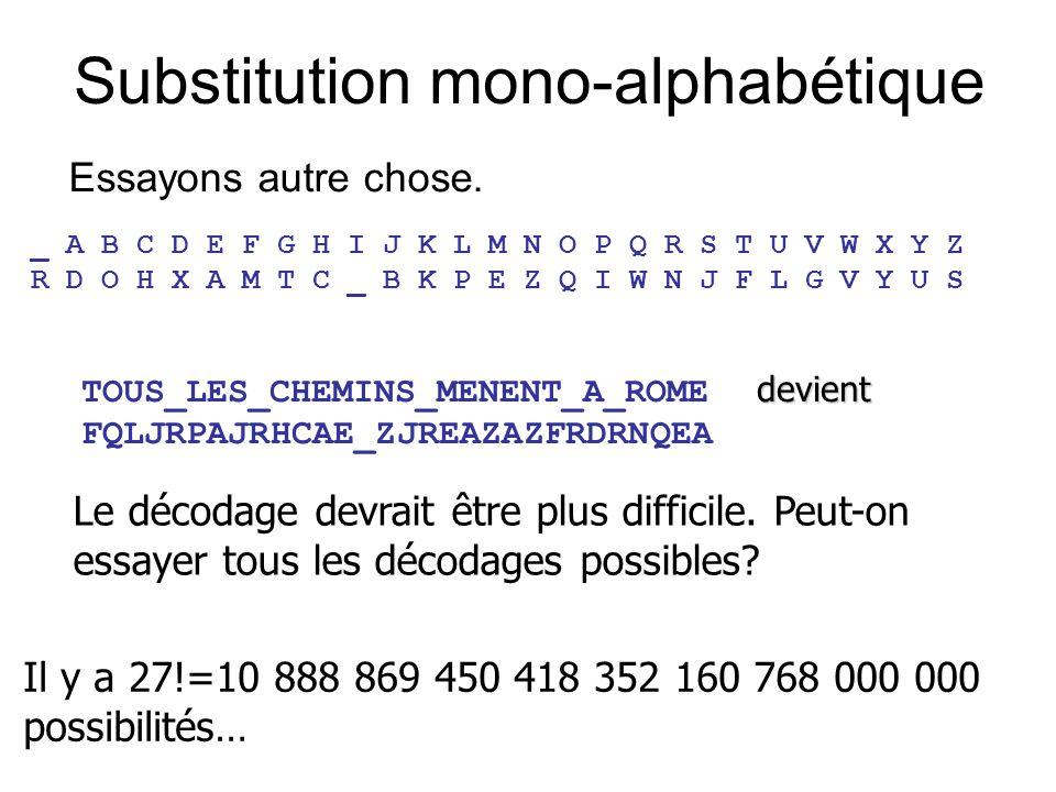 Substitution mono-alphabétique