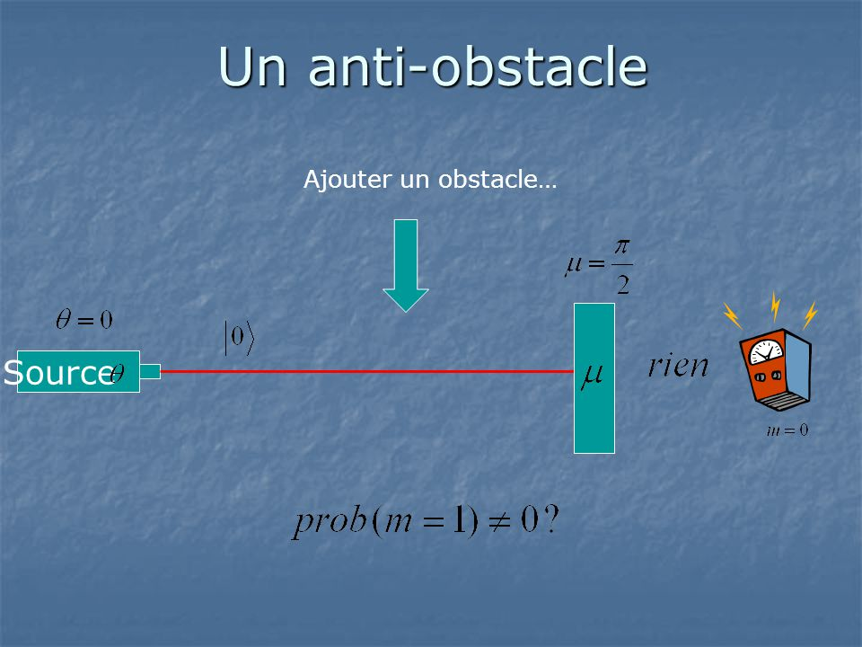 Un anti-obstacle Ajouter un obstacle… Source