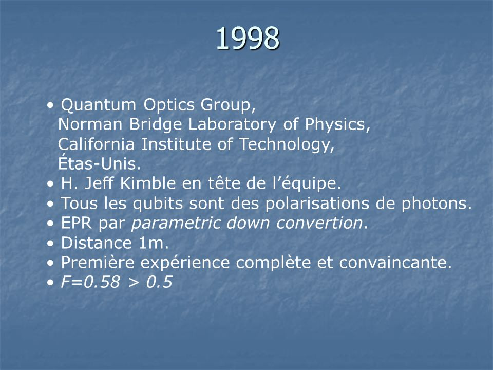 1998 Quantum Optics Group, Norman Bridge Laboratory of Physics, California Institute of Technology,