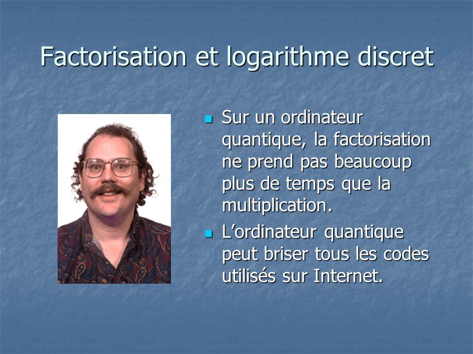 Factorisation et logarithme discret