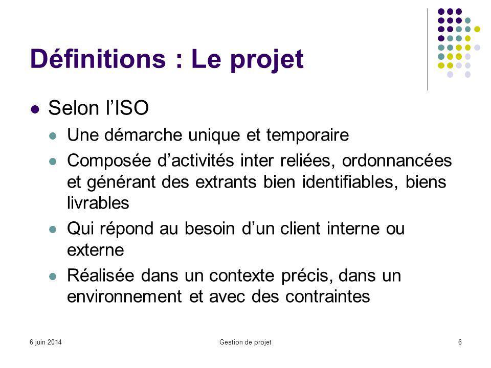 Définitions : Le projet