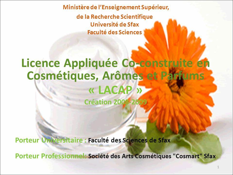 Licence Appliquée Co-construite en Cosmétiques, Arômes et Parfums