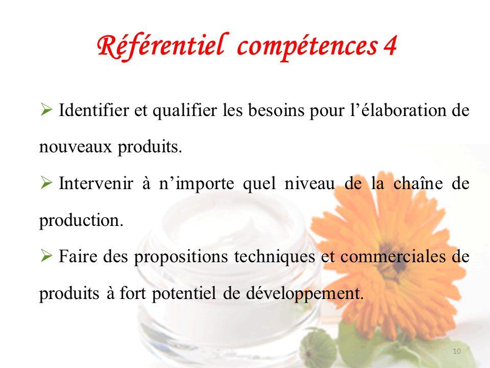 Référentiel compétences 4