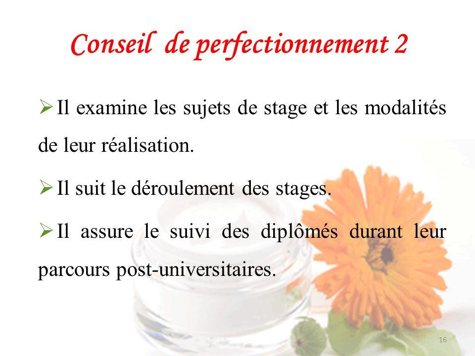 Conseil de perfectionnement 2