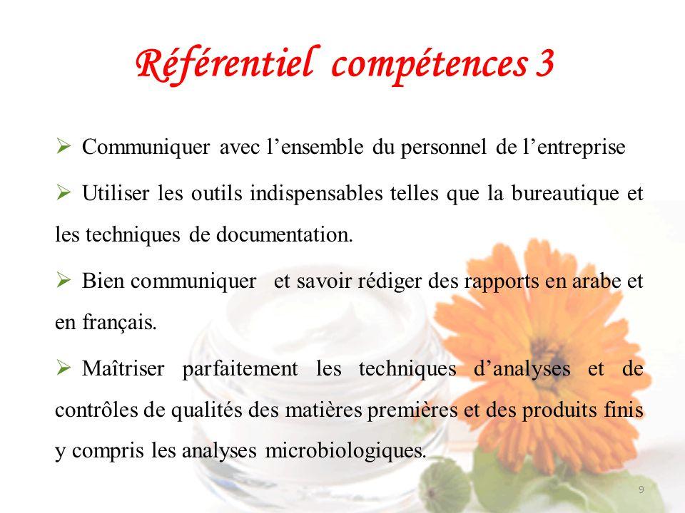Référentiel compétences 3