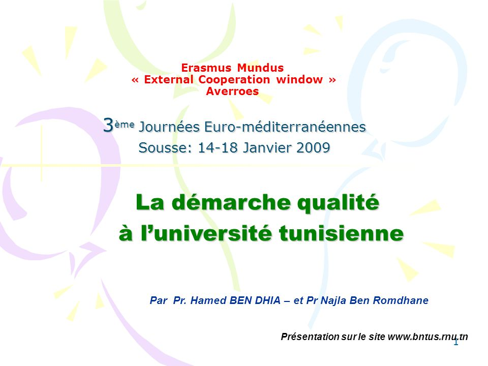 Erasmus Mundus « External Cooperation window » Averroes