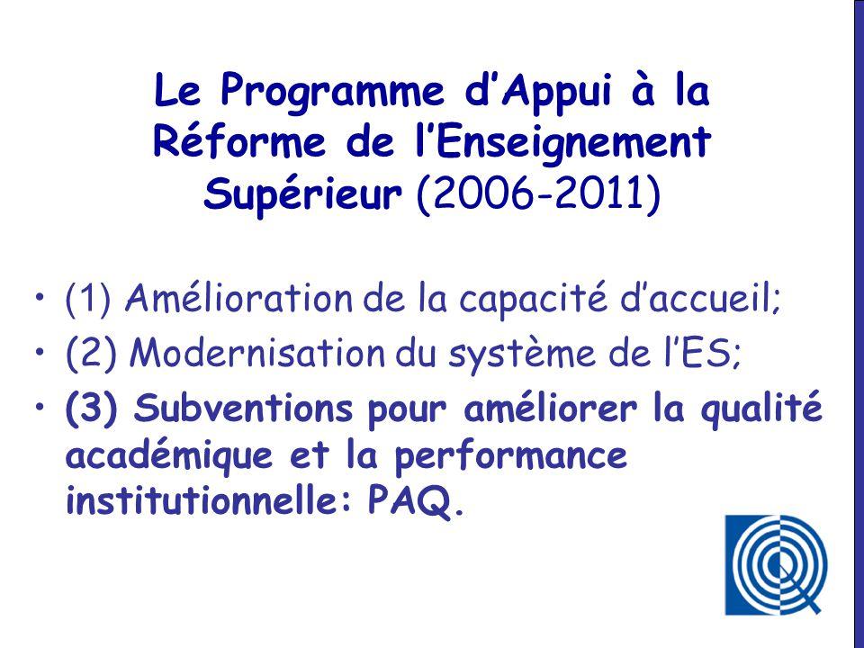 Le Programme d'Appui à la Réforme de l'Enseignement Supérieur (2006-2011)