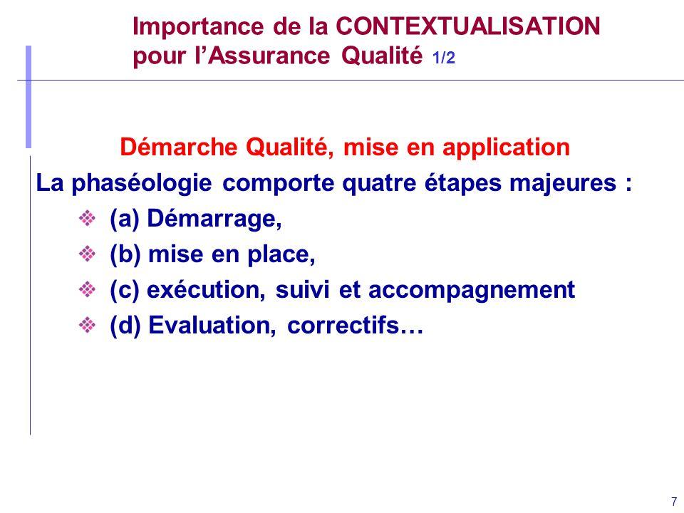 Importance de la CONTEXTUALISATION pour l'Assurance Qualité 1/2