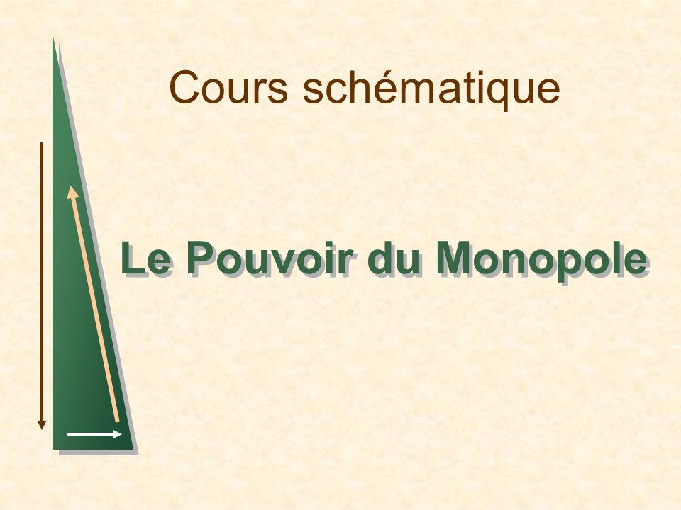 Cours schématique Le Pouvoir du Monopole 1