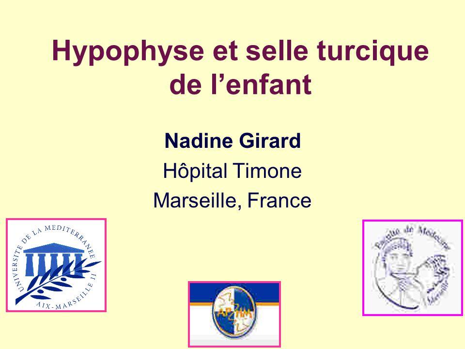 Hypophyse et selle turcique de l'enfant