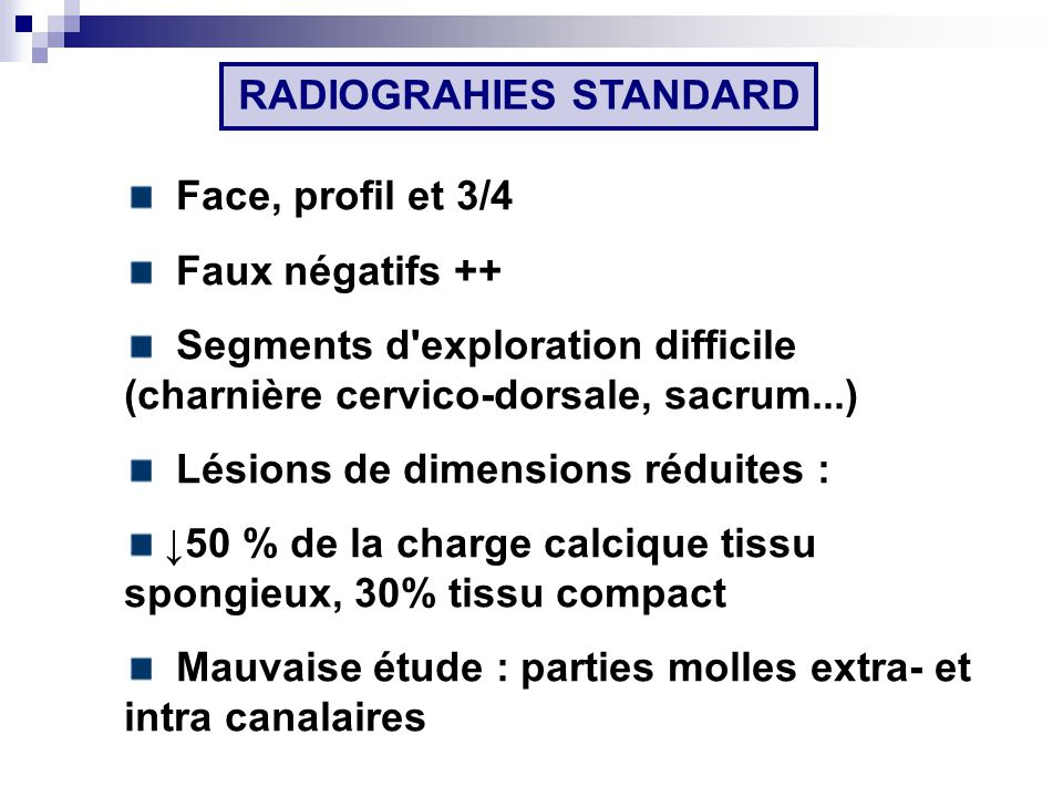 RADIOGRAHIES STANDARD