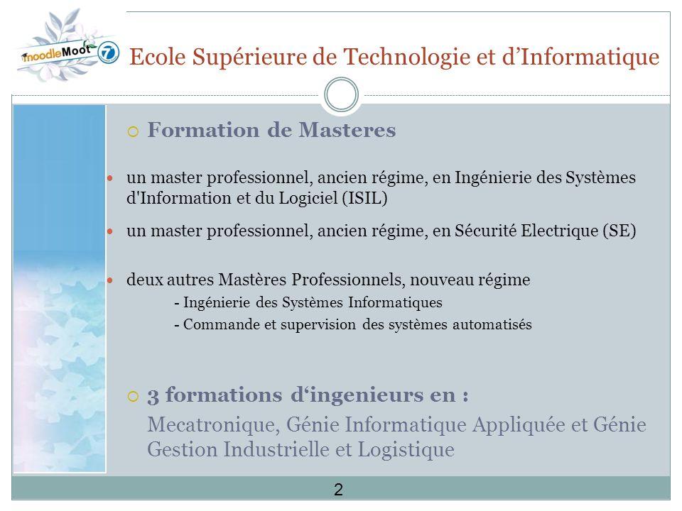 Ecole Supérieure de Technologie et d'Informatique