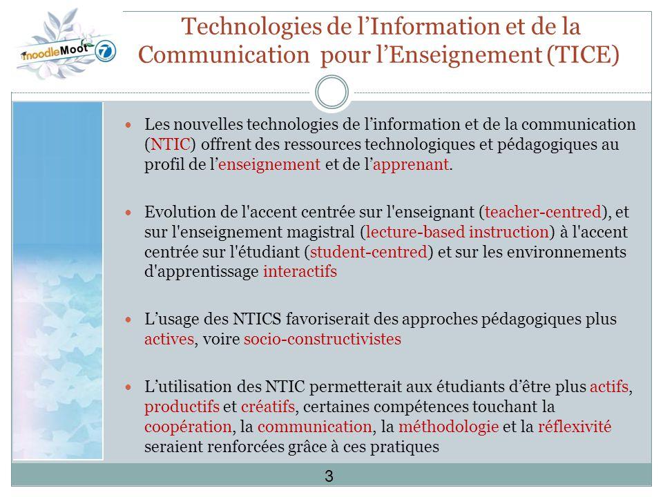 Technologies de l'Information et de la Communication pour l'Enseignement (TICE)