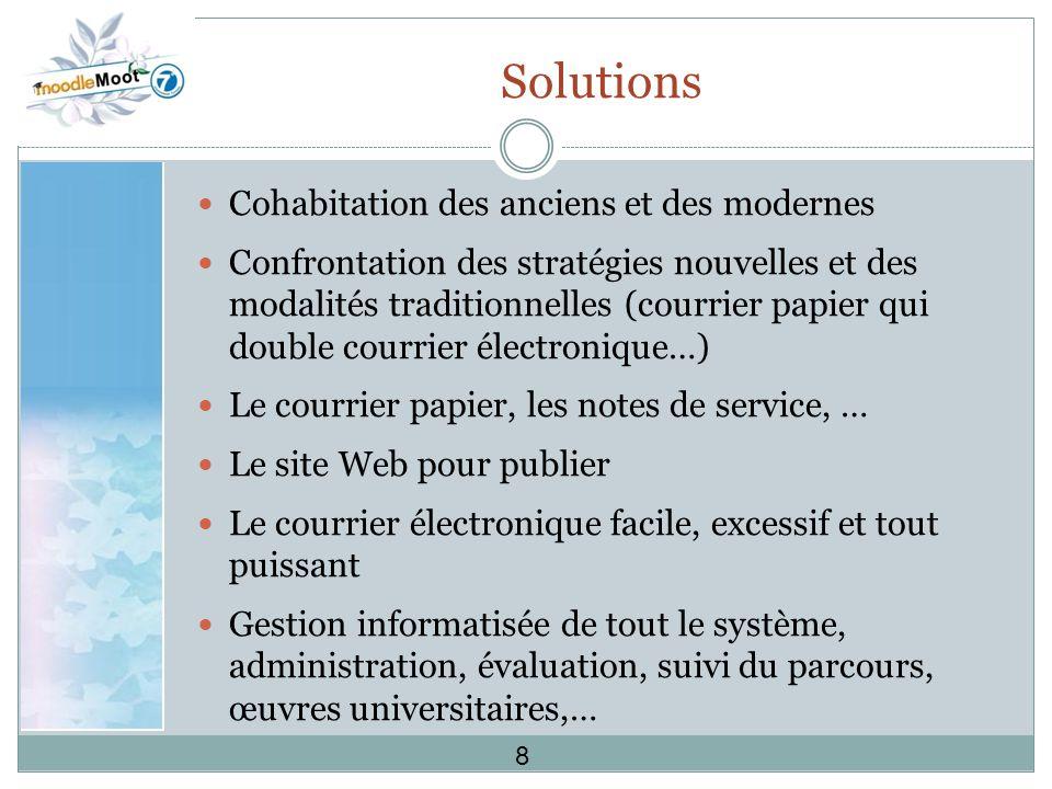 Solutions Cohabitation des anciens et des modernes