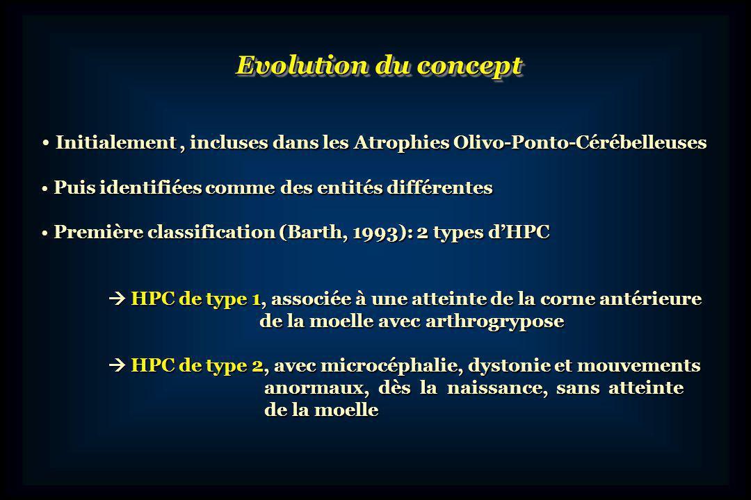 Evolution du concept Initialement , incluses dans les Atrophies Olivo-Ponto-Cérébelleuses. Puis identifiées comme des entités différentes.