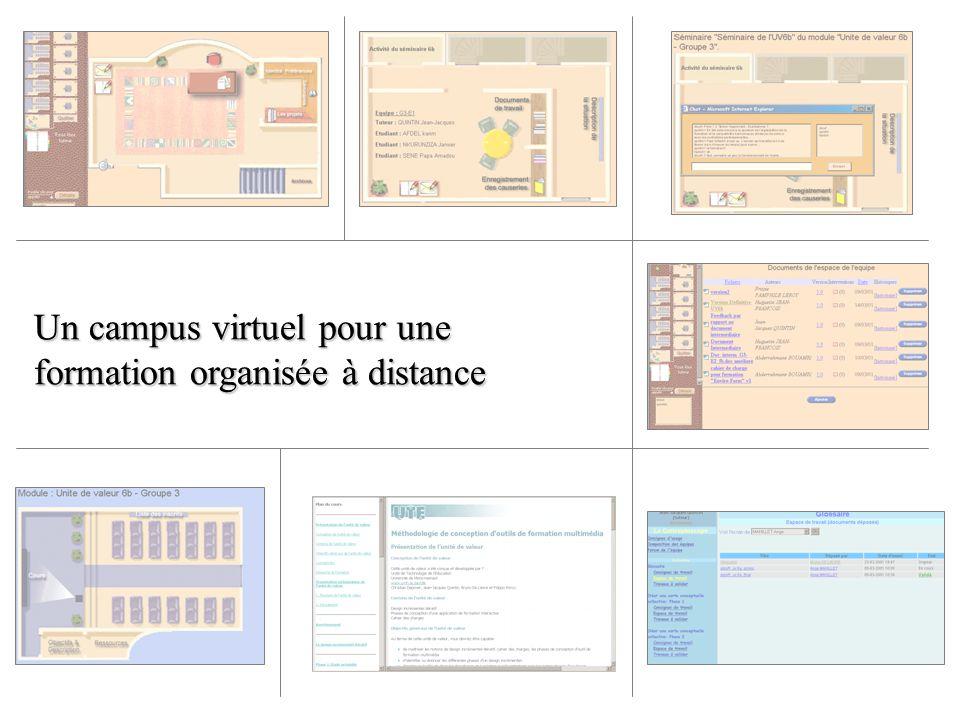 Un campus virtuel pour une formation organisée à distance