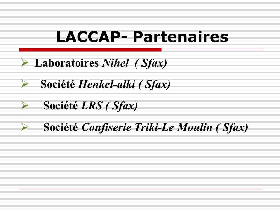 LACCAP- Partenaires Laboratoires Nihel ( Sfax)