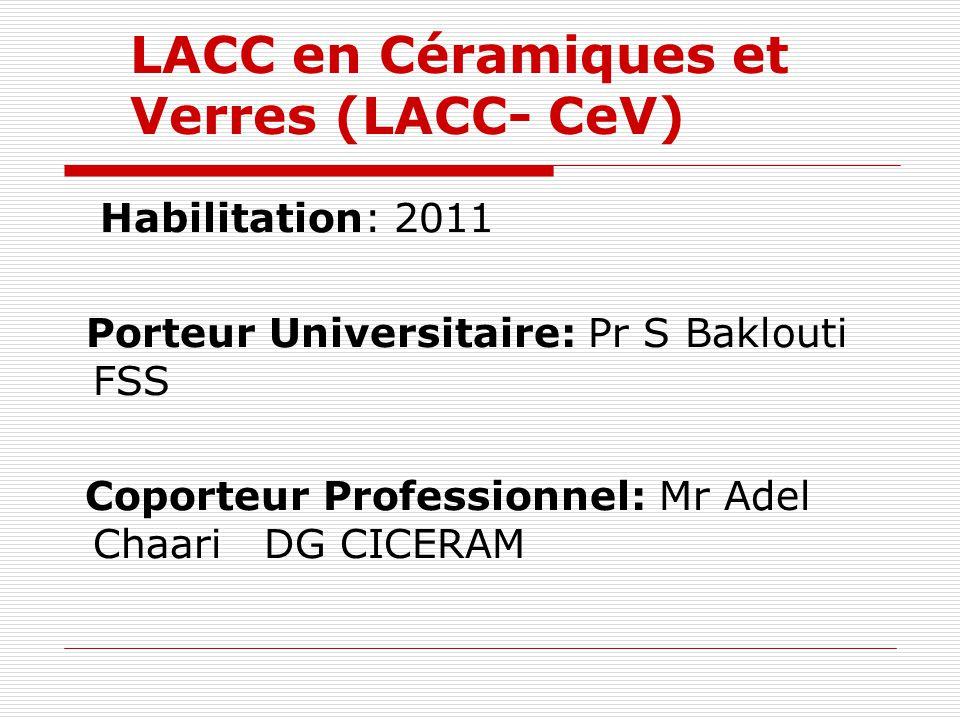 LACC en Céramiques et Verres (LACC- CeV)