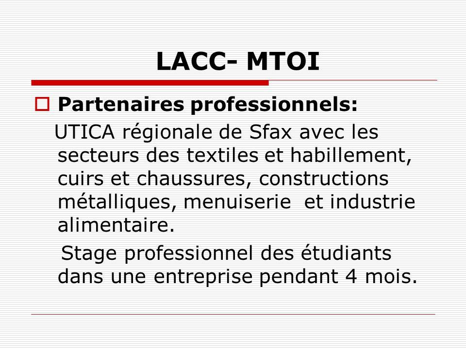 LACC- MTOI Partenaires professionnels: