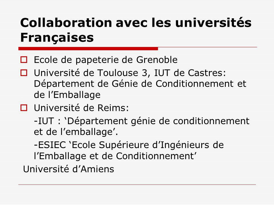 Collaboration avec les universités Françaises