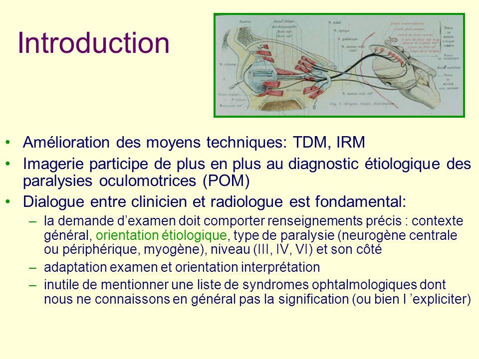 Introduction Amélioration des moyens techniques: TDM, IRM