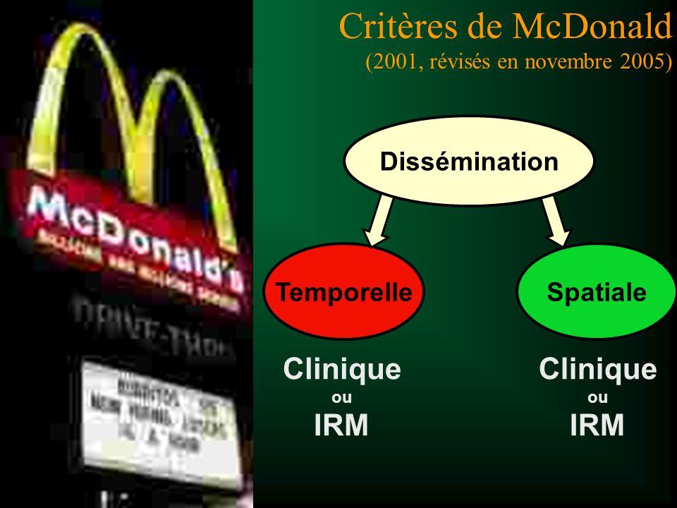 Critères de McDonald (2001, révisés en novembre 2005)