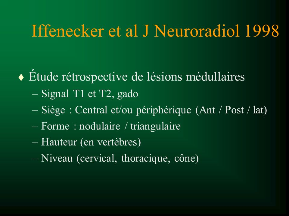 Iffenecker et al J Neuroradiol 1998