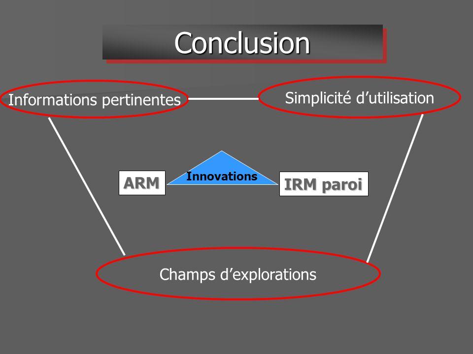 Conclusion Simplicité d'utilisation Informations pertinentes ARM