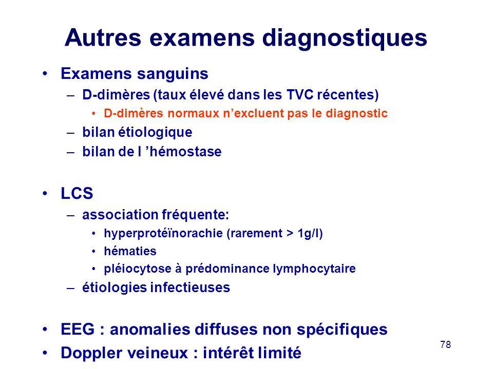 Autres examens diagnostiques
